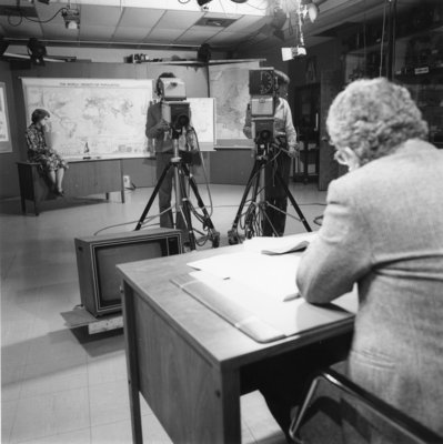 Ralph Blackmore during a Telecollege filming