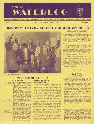 This is Waterloo, November 1958, volume 3, number 1