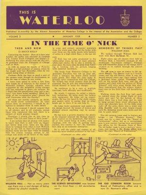 This is Waterloo, January 1959, volume 3, number 2