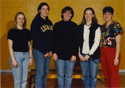 Wilfrid Laurier University women's curling team, 1996-97