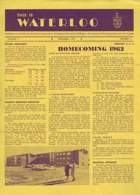 This is Waterloo, December 1961, volume 5, number 3
