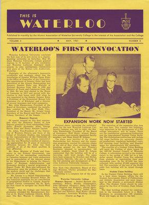This is Waterloo, May 1961, volume 5, number 3