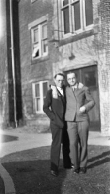 Two Students standing in front of Willison Hall