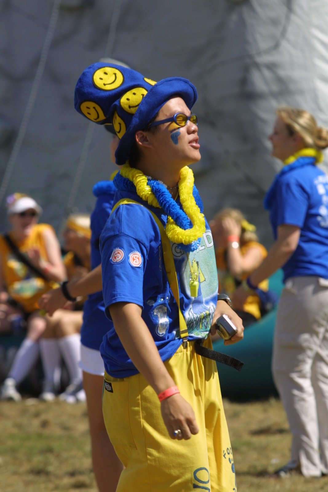 Student participating in Orientation Week 2002 at Wilfrid Laurier University