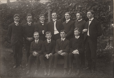 Eleven young men