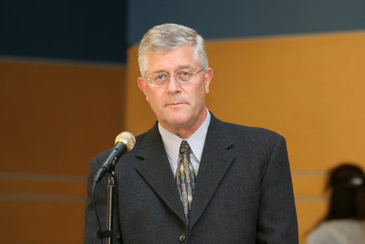 Max Blouw at the official opening of the Faculty of Education, Wilfrid Laurier University