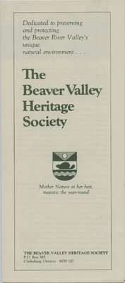 The Beaver Valley Heritage Society