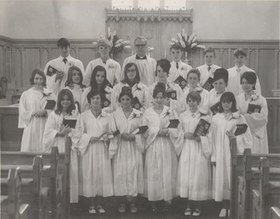 St. Peter's Evangelical Lutheran Church confirmation class, 1970