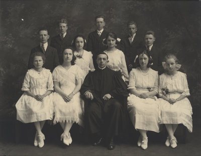 St. Peter's Evangelical Lutheran Church confirmation class