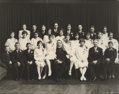 St. Peter's Evangelical Lutheran Church confirmation class, 1929