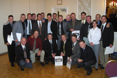 Wilfrid Laurier University 1988-89 men's hockey team at Hall of Fame induction