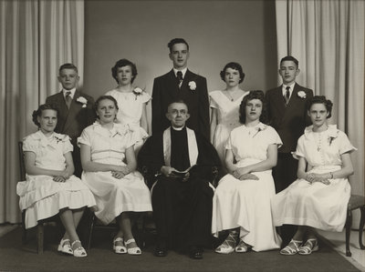 St. Peter's Evangelical Lutheran Church confirmation class, 1951