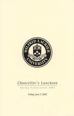Chancellor's Luncheon program, June 7, 2002