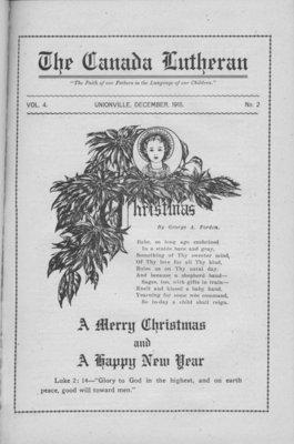 The Canada Lutheran, vol. 4, no. 2, December 1915