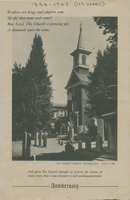 115 Serving Years, St. Peter's Evangelical Lutheran Church
