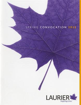 Laurier Brantford spring convocation program, 2012