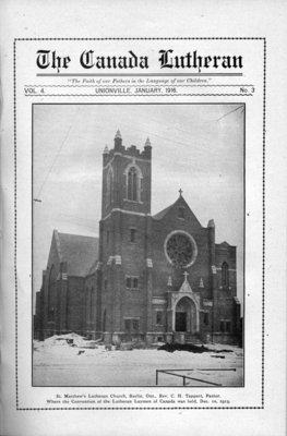 The Canada Lutheran, vol. 4, no. 3, January 1916
