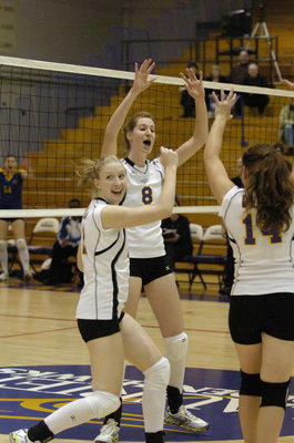 Wilfrid Laurier University women's volleyball game