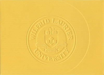 Wilfrid Laurier University fall convocation and Chancellor's dinner invitation, 2003