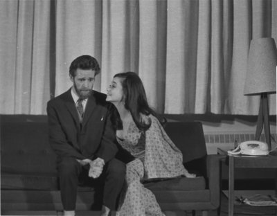 """Keith Knights and Eileen Shelle in """"The Telephone"""""""