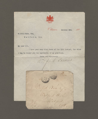 Letter from Wilfrid Laurier to Wilfrid Race, October 15, 1897