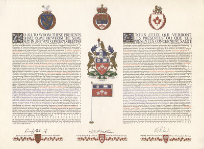 Letters patent of armorial bearings