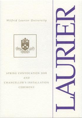 Wilfrid Laurier University spring convocation invitation, 2008