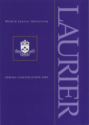 Wilfrid Laurier University spring convocation invitation, 2009