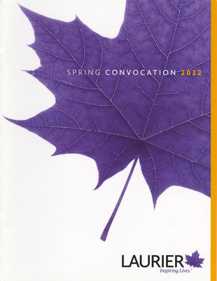 Wilfrid Laurier University spring convocation program, 2012