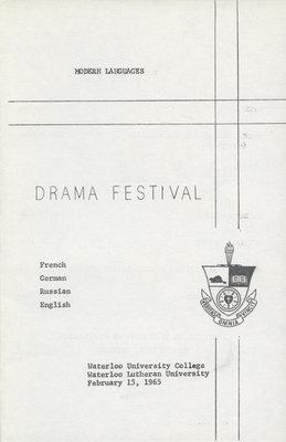 Modern Languages Drama Festival, Waterloo Lutheran University