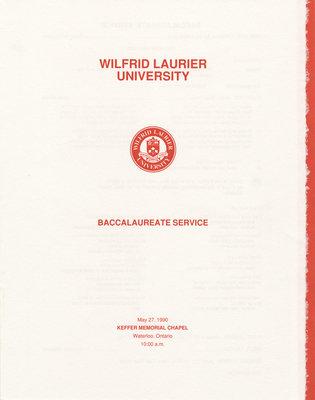 Wilfrid Laurier University baccalaureate service program, spring 1990