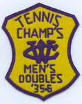 Waterloo College Tennis Champ's Men's Doubles 1935-36 badge