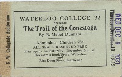 The Trail of the Conestoga ticket