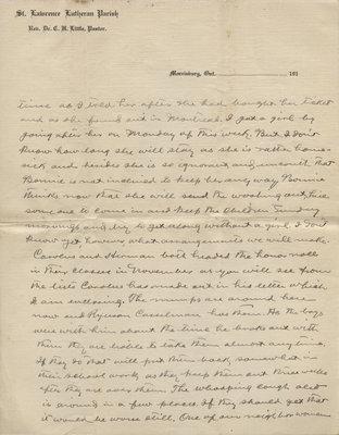 C. H. Little to Candace Little, December 1916 [partial letter]