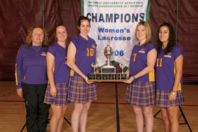 Wilfrid Laurier University women's lacrosse players and coach, 2006