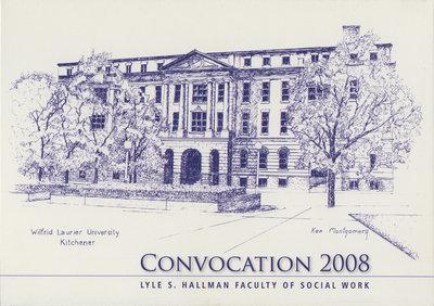 Faculty of Social Work convocation reception invitation, fall 2008