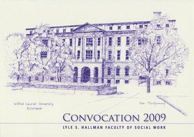Faculty of Social Work convocation reception invitation, spring 2009