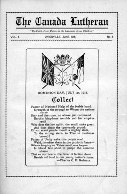 The Canada Lutheran, vol. 4, no. 8, June 1916