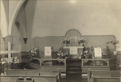 Interior of the Evangelical Lutheran Church of the Redeemer, Montreal, Quebec, 1933