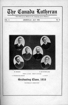 The Canada Lutheran, vol. 4, no. 9, July 1916
