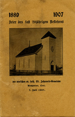 1889-1907 : Feier des fast 20jahrigen Besehens