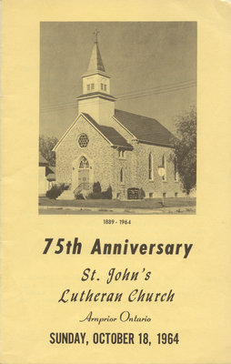 75th Anniversary of St. John's Lutheran Church in Arnprior, Ontario