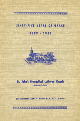 Sixty-five years of grace : 1998-1954 : St. John's Evangelical Lutheran Church, Arnprior, Ontario