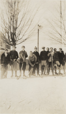 Hockey players at the Evangelical Lutheran Seminary of Canada