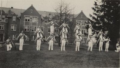 Waterloo College pyramid team