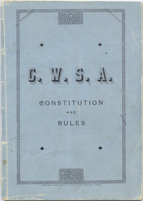 Constitution and rules of the Canadian Women's Suffrage Association : inaugurated at a public conversazione held in the city council chamber of Toronto on 9th March, 1883