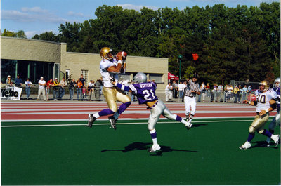 Matte Babel during Wilfrid Laurier University football game