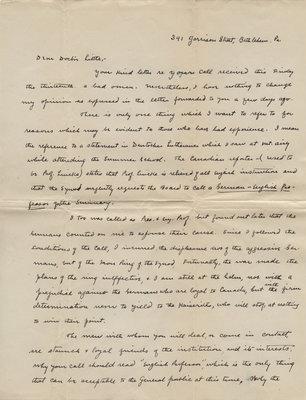 Preston Laury to Carroll Herman Little, July 7, 1917