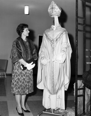 Elizabeth Villaume at Waterloo Lutheran University event, March 23, 1964