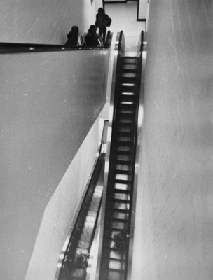 Escalator in Central Teaching Building, Wilfrid Laurier University